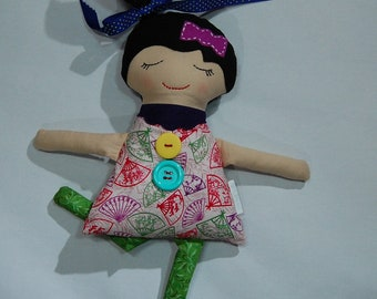 Handmade doll, cloth doll, Darling Big Sister Doll, girl doll, fabric doll