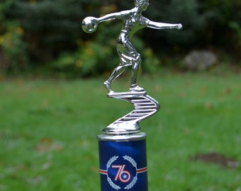 Vintage 1970s Women's Bowling Trophy, England