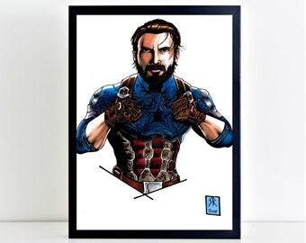 Captain america Avengers Infinity war A4 Poster