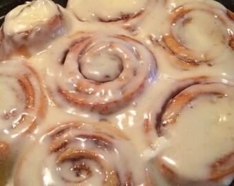 Iced cinnamon rolls