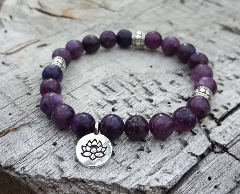with sandalwood bracelet om matte charm healing products quartz chakra gemstone and crystal