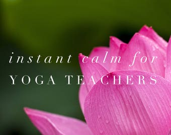 Instant Calm for Yoga Teachers   Guided Meditation   Audio Download