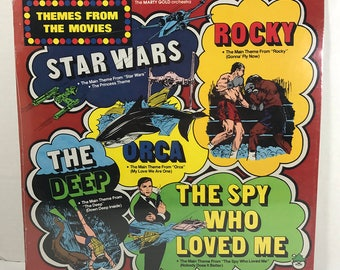 Themes From The Movies Star Wars vinyl record SEALED Peter Pan Records Star Wars, Rocky, Orca, The Deep