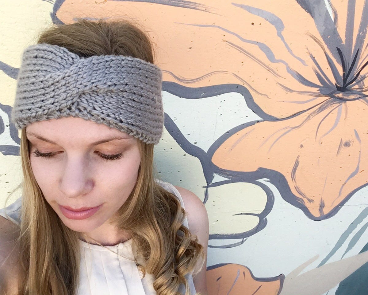 KNITTING PATTERN - Vintage Turban Headband, Knit your own Fall ...