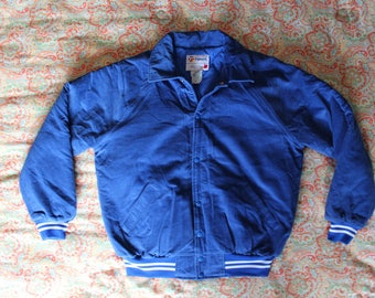 Blue Corduroy Jacket - Size Adult L - By Trimark - Made in Canada - Excellent Condition