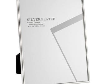 """Silver Portrait Picture Frames 8"""" x 10"""""""