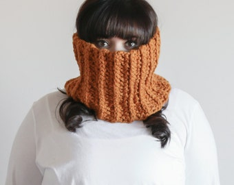 Chunky Cowl Scarf Ribbed Warmer | THE BANTRY in Butterscotch
