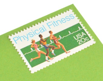 Pack of 25 Unused Physical Fitness Stamps - 20c - Vintage Unused Postage - 1983 - Quantity of 25