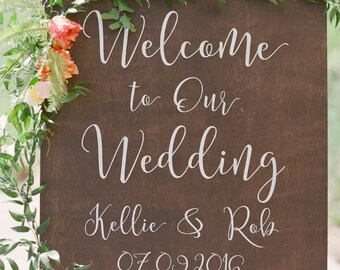 Welcome to Our Wedding Rustic Wedding Sign | Wooden Wedding Signs | Wedding Welcome Sign | Wood Welcome Sign | Rustic Wedding Sign - WS-238