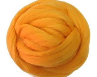 Merino / Silk  Roving, (Yolk)