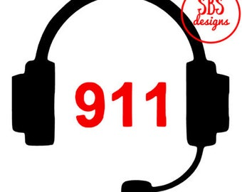 911 dispatcher headset decal