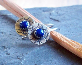 Sterling and Lapis Earrings
