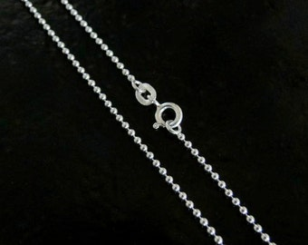 40 Inch - Sterling Silver 1.5mm Ball Chain Necklace