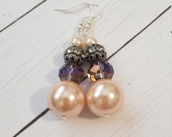 Large Elegant Pearl Earrings