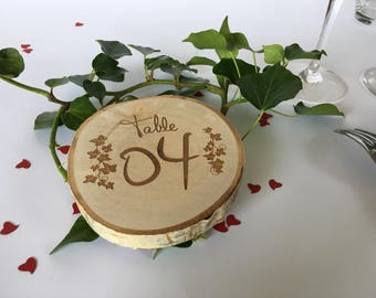 """Mark up """"table"""" engraving on wood for all types of events rodin"""