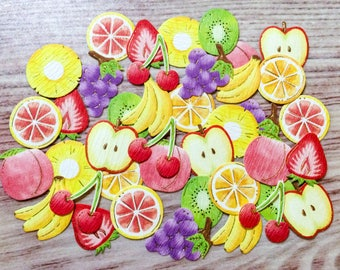 Fruit Flake Stickers - Traditional Japanese Paper