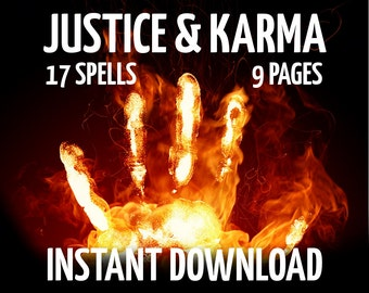 9 Book of Shadows Pages Justice and Karma Magic, Court, Wicca, Witchcraft, Like Charmed, BOS Pages, Wiccan eBook, Real Witchcraft Book