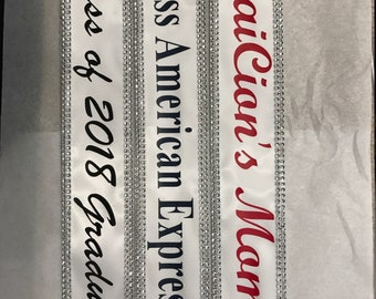 Pagent sash, Pageant Sash, Wedding Banner, Shower Banner, Wedding Sash Prom King, Prom Queen,  Beauty Queen,Miss USA Any Color any wording