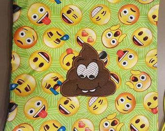 Super Cute Goofy Poop Emoji Print Drawstring  Bag