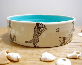 Large Dog Bowl - On The Beach
