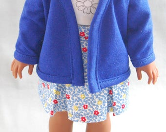 """Classic Cardigan for WellieWishers 14.5"""" Doll"""