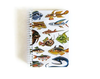 Tropical Fishes A6 Notebook Spiral Bound