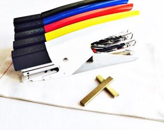 SALE Italian Stapler {Uses Tiny Brass Staples 1,000 included}