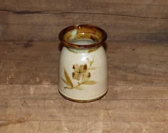 Hand Thrown  Vase, Pencil Holder Earth Tones -  1732