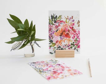 Prints with Wood Stand in Blush (set of 2)