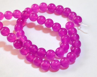Half Strand 8mm Orchid Color Agate Gemstone Round Beads - 23 beads  OA-4