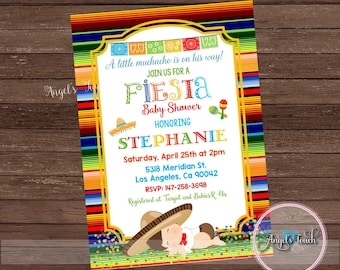 Fiesta Baby Shower Invitation, Fiesta Baby Shower, Fiesta Mexicana Baby Shower Invitation, Fiesta Mexicana Invitation, Digital File