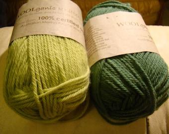 Sale -100% organic merino wool from Australia - Woolganic - only 8.99 USD instead of 12.99USD per skein