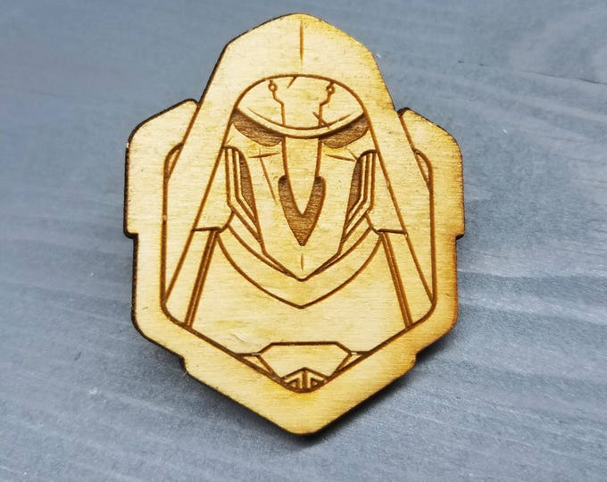 Reaper Overwatch Pin | Laser Cut Jewelry | Wood Accessories