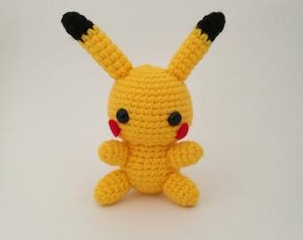 READY TO SHIP: Pikachu Doll, Pikachu Plushie, Pikachu Amigurumi, Pokemon Pikachu, Crochet Pikachu