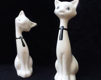 Set of Ceramic Cats