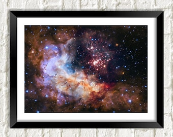 NASA SPACE PHOTO: Stunning Hubble Westerlund Galaxy Poster Art Wall Hanging