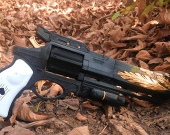 "Destiny Replica Hawkmoon Moonglow Gun Revolver Prop Cosplay Hand Cannon 19"""