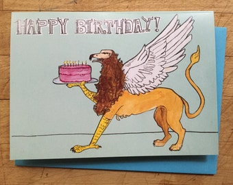 Griffin Birthday Card