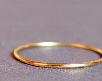 Gold Ring/Solid Gold Ring/ Thin Gold Ring/ Tiny Gold Ring/ Gold Band, 14k Gold/ Skinny Gold Ring/ Custom Teeny Weenie Ring *Solid 14k Gold*
