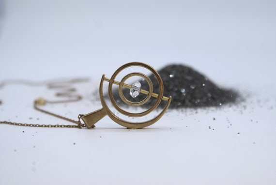 the Herkimer Gyroscope necklace