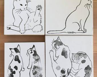 猫スタンプ Cat stamps.