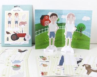 Family Farm Pocket Pal - Paper Doll Set