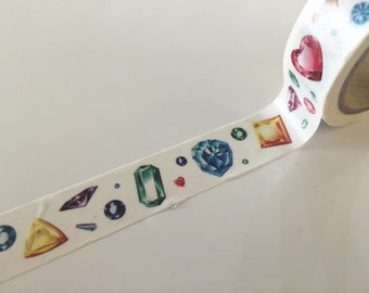 Colorful Gem Stones Washi Tape 8m x 15mm WT850
