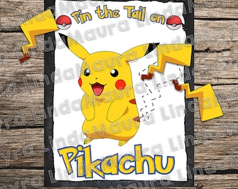 pin the tail on Pikachu