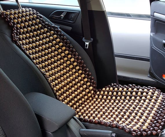 Car Seat Cover Massage From Natural Wood Beads Universal Fit