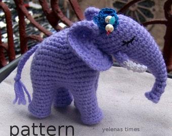 CROCHET PATTERN-Crochet Elephant-Instant Download-Toy Elephant-Amigurumi Elephant-DIY Crochet Toy-Stuffed Toy Animal-Small Crochet Toys
