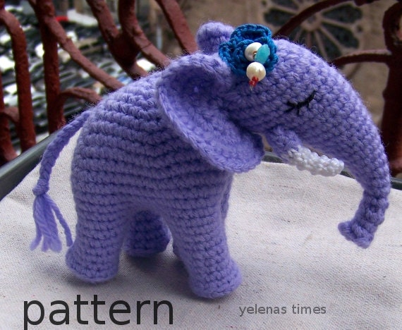 Amigurumi Elephant Pattern : Crochet pattern crochet elephant instant download toy elephant