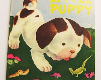 The Poky Little Puppy. Big Golden Book. 1976 edition. Kids classics. Gustaf Tenggren. Janette Lowrey. Baby shower gift. Animal stories