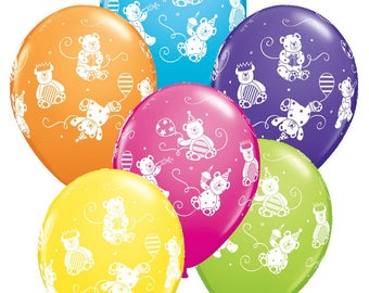 """Cute Bears Animals 11"""" Balloons Latex Happy Birthday Party Kids Gift Favours Tableware Gifts Decorations Celebrations"""