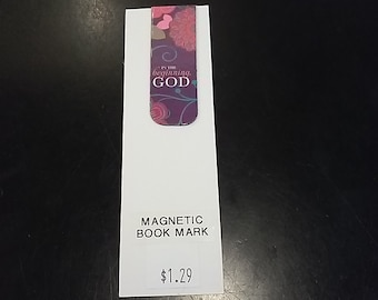 """Magnetic Book Mark- """"In the beginning God"""""""
